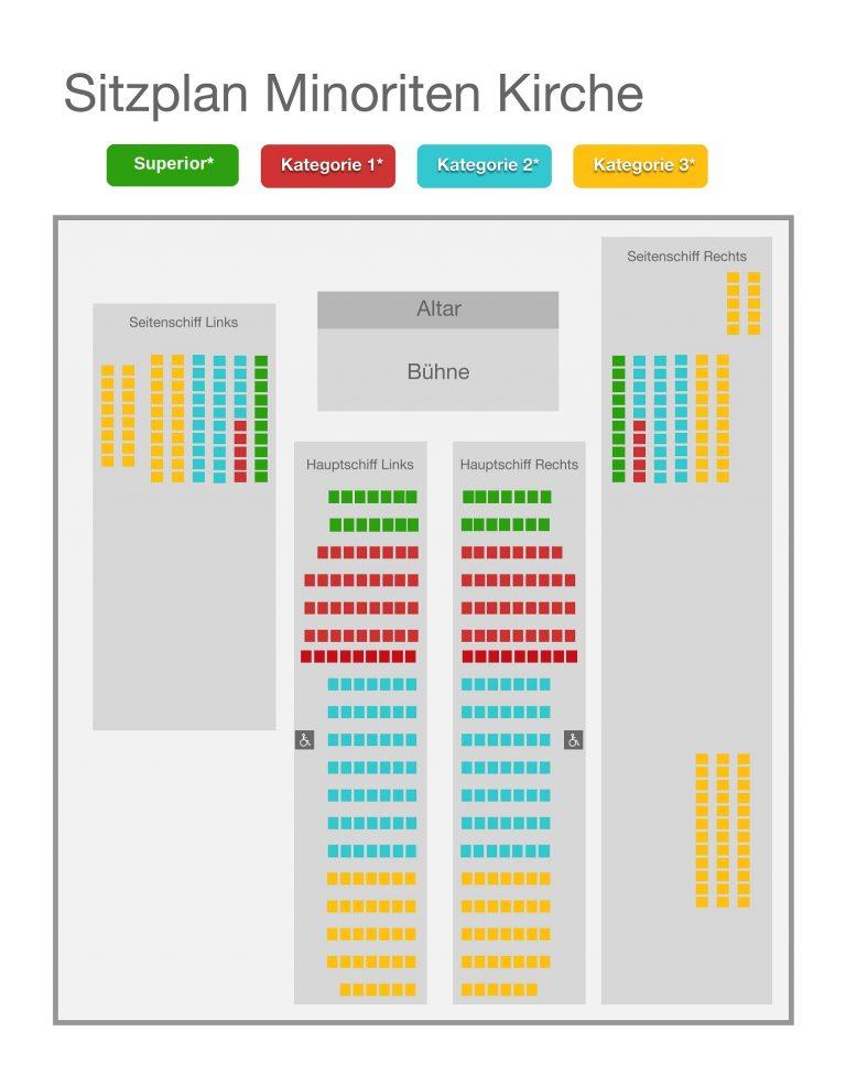 Sitzplan Klassische Konzerte Wien Minoriten Kirche Sitzplan classical concerts Vienna